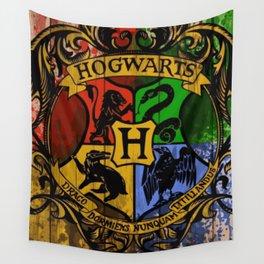 Hogwarts Gryffindor Hufflepuff slytherin ravenclaw Wall Tapestry