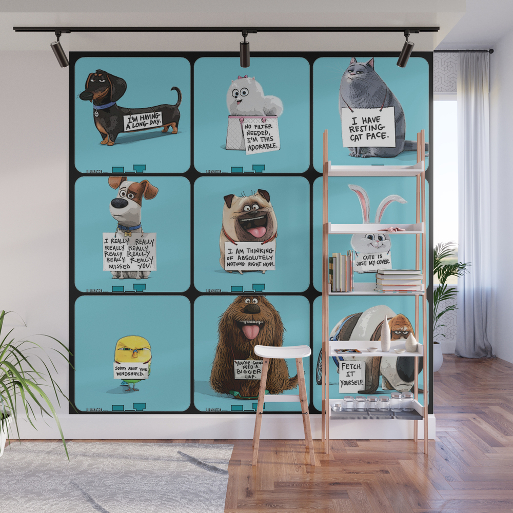 The Secret Life Of Pets Movie Wall Mural by Buchory WMP8109086