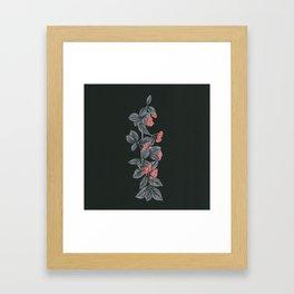 Black Pages II Framed Art Print