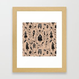 Creatures of the Night (orange) Framed Art Print