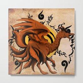 Kyuubi Dragon Metal Print