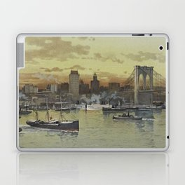 Vintage Pictorial View of NYC (1896) Laptop & iPad Skin
