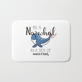 Be a Narwhal Bath Mat