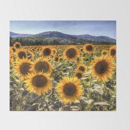 The Sunflower Summer Throw Blanket