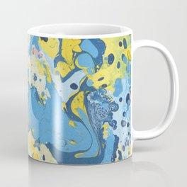 Abstract Blue & Yellow Paint Coffee Mug