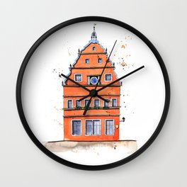whimsical house in Germany Wall Clock