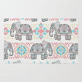 Elephant Parade,  Boho Pattern Rug