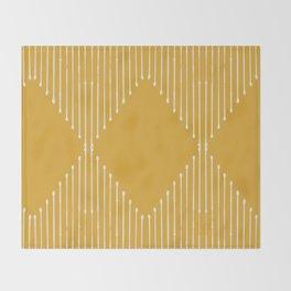 Geo / Yellow Throw Blanket