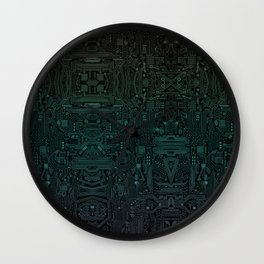 Circuitry Details Wall Clock