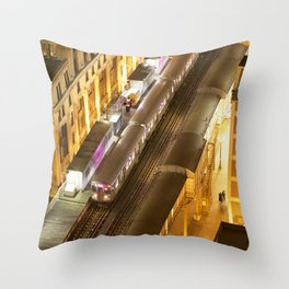 Late Night Commute Throw Pillow
