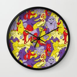 Bright Topless Bird Party Wall Clock