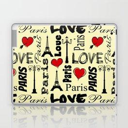 Paris text design illustration Laptop & iPad Skin