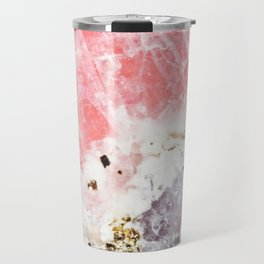 GOLD FLECKED ROSE QUARTZ Travel Mug