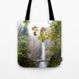 Autumn at Multnomah Falls Tote Bag