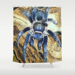 Nugget the Blue Tarantula Shower Curtain