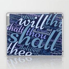 Christian Psalm 91 Word Art Laptop & iPad Skin