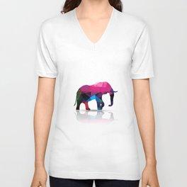Geometric elephant Unisex V-Neck