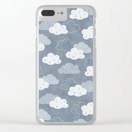 RAIN CLOUDS Clear iPhone Case