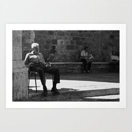 uomo italiano Art Print
