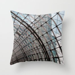 train station - glass - Berlin Throw Pillow