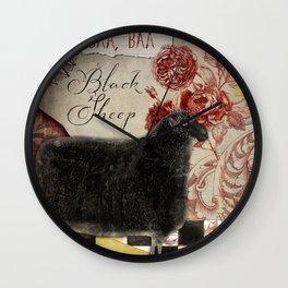 Baa Baa Black Sheep Wall Clock