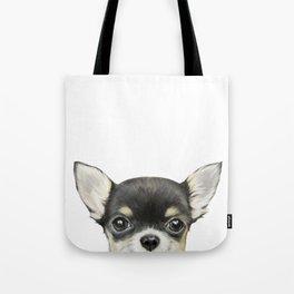 Chihuahua mix color Dog illustration original painting print Tote Bag