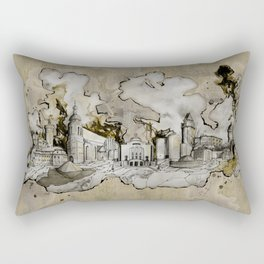Cottbus Monument Skyline Illustration by carographic, Carolyn Mielke Rectangular Pillow