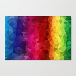Rainbow Polygons Canvas Print