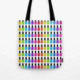Nail Polish Rainbow Tote Bag