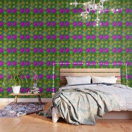 Dots and acrylpaint pattern Wallpaper