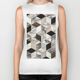 Marble Cubes 2 - Black and White Biker Tank