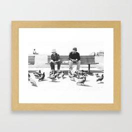 Feeding the Birds Framed Art Print