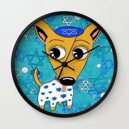 Happy Chihuanukkah! Wall Clock