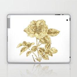 Gold Glitter Flower Laptop & iPad Skin