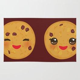 Kawaii Chocolate chip cookie Rug