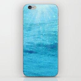 Sparkly Sea Sun Sparkles iPhone Skin