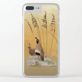 California Valley Quail Clear iPhone Case
