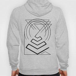 Pyramid lines in black Hoody