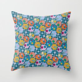 Mosaic (Hexagons) Throw Pillow