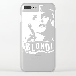 Debbie Harry Blondie Clear iPhone Case