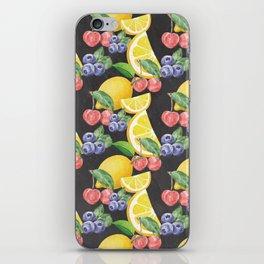 Fruits on Chalkboard iPhone Skin