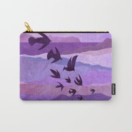 Purple Mountains Birds Take Flight Carry-All Pouch