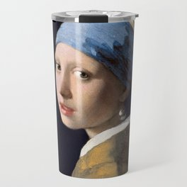 Johannes Vermeer - Girl with a Pearl Earring Travel Mug