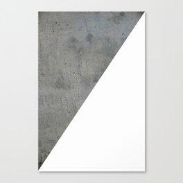 Concrete Vs White Canvas Print