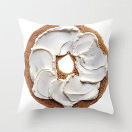 Bagel with Cream Cheese Throw Pillow