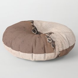 rotated rustic roof Floor Pillow