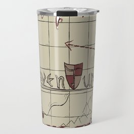 Adventure Letterform + Pattern Travel Mug