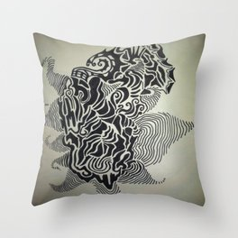 Ink Doodle Graphic Design Throw Pillow
