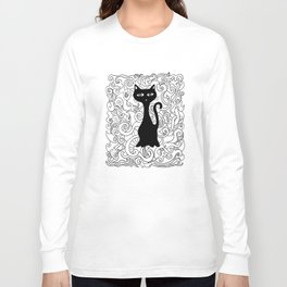Cat in curves Long Sleeve T-shirt