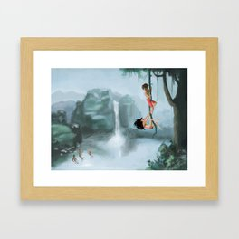Young and lovin' it Framed Art Print